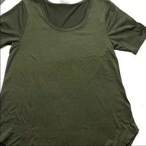LuLaRoe XL Morgan top NWT Olive Green!